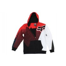 BLUZA FOX Z KAPTUREM NA ZAMEK FLIGHT SUPERIOR RED rozmiar XL