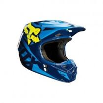 Kask FOX V1 Race Blue / Yellow