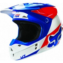 Kask FOX V1 Race Mako Blue / White