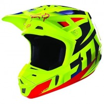 Kask FOX V2 Race Ace Blue/Yellow