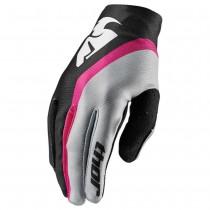 Rekawiczki motocyklowe Thor Void  Women Black/Pink rozmiar L