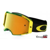 Gogle OAKLEY AIRBRAKE MX SHOCKWAVE Green Yellow w/24K Iridium