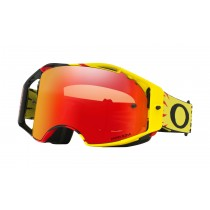 Gogle Oakley AIRBRAKE MX High Voltage Yellow Red w/Torch