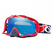Gogle OAKLEY CROWBAR Troy Lee Design Metric Red White w/Black ICE Iridium