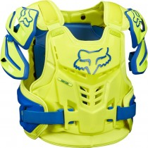 BUZER FOX ADULT RAPTOR VEST BLUE/YELLOW L/XL