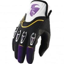 Rękawice crossowe Thor FLOW Purple rozmiar M