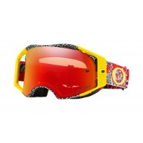 Gogle OAKLEY AIRBRAKE MX DAZZLE DYNO RED YELLOW w/PRIZM MX TORCH