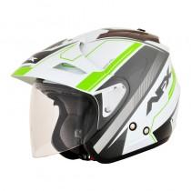 KASK MOTOCYKLOWY FX-50 SIGNAL AFX JET WHITE/GRAY/BRIGHT GREEN