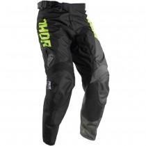 Spodnie dziecięce crossowe THOR PULSE Lime/Black